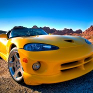 Photo: Dodge Viper in the Valley of Fire