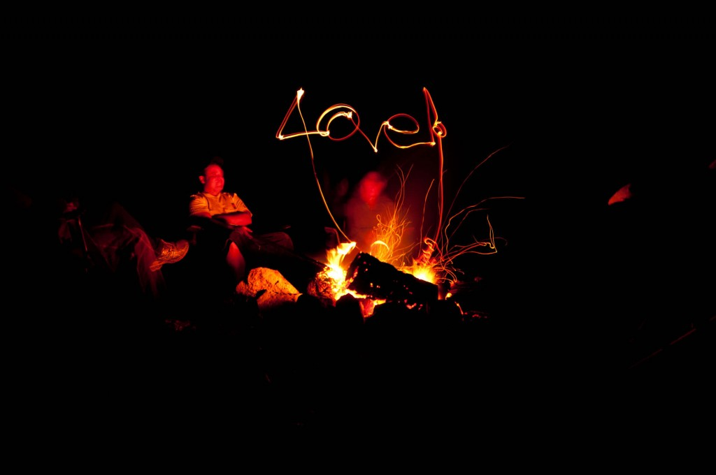 Long exposure photography, Campfire Fun