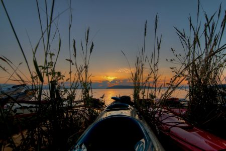 Kayak Trip Sunset