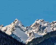 Photo: Winter Mountain Peaks in BC