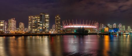 Vancouver Skyline from Olympic Village Pano
