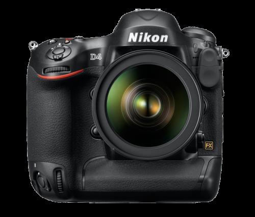 Nikon D4 High Res Front Transparent