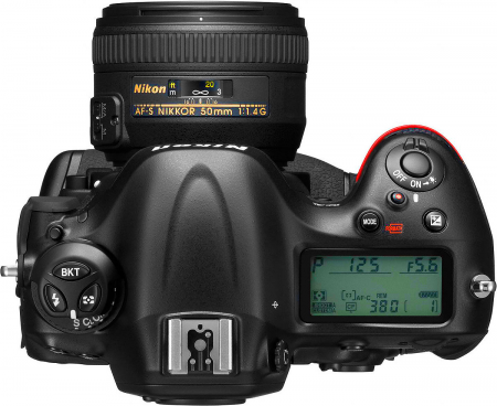 Nikon D4 High Res Top Transparent