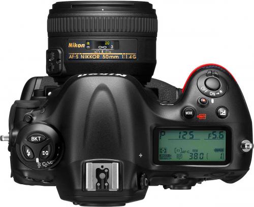 Nikon D4 High Res Top Transparent