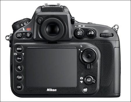Nikon D800 Back