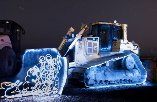Light painting attempt dozer