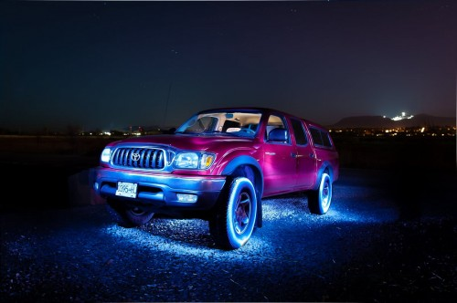 Light painting Toyota Tacoma