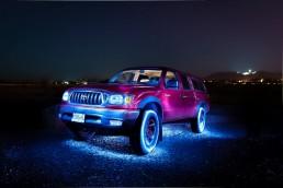 Light painting Toyota Tacoma