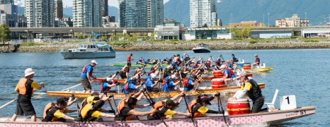 Dragon Boat Spring Sprint in Vancouver