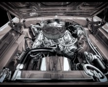 Photo: Motor in a Late 60's Dodge Charger