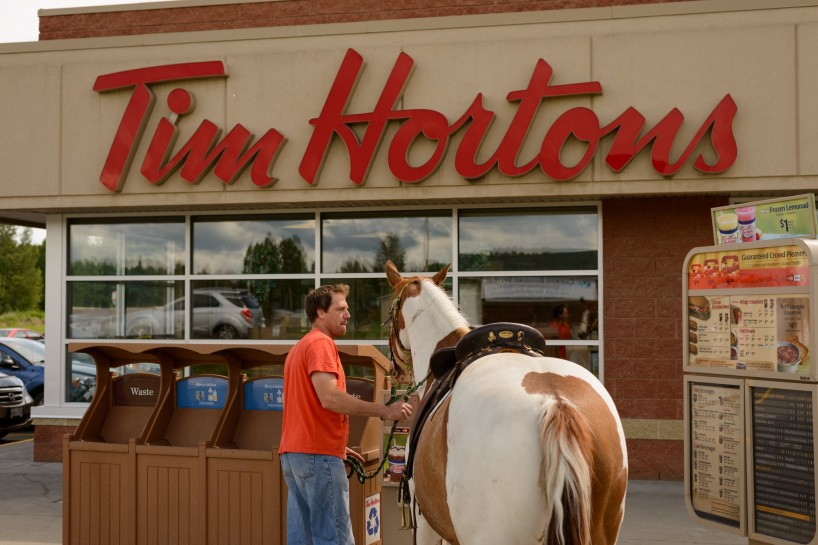 Tim Horton's Drive Through Horse - Quesnel BC July 2012