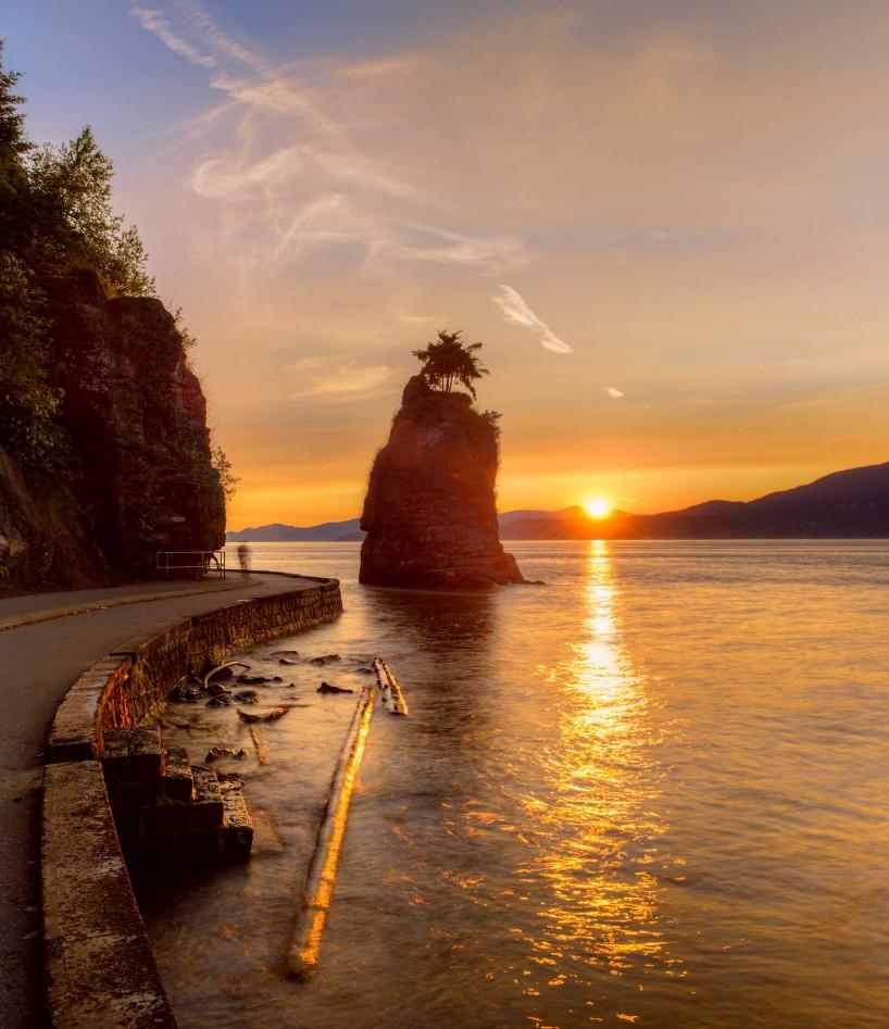 Vancouver : Siwash Rock Sunset : 2012-07-06