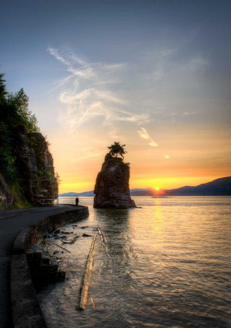 Siwash Rock At Sunset : 2012-07-06