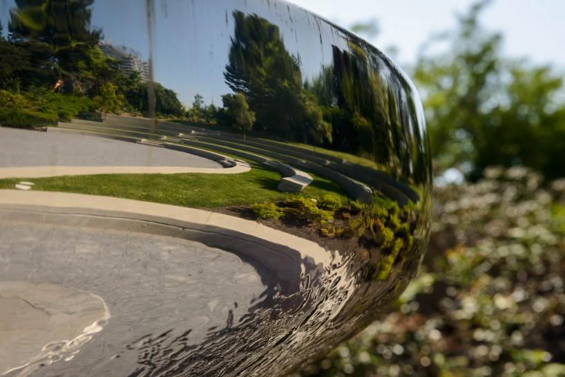 UBC Botanical Garden Fountain Reflection