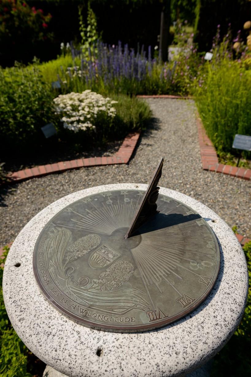UBC Botanical Garden Sundial in the medical garden