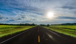 Alberta Visit Aug 2012 : Lonely Road in Alberta - Big Sky Country