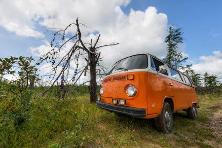 Alberta Visit Aug 2012 : Volkswagen Bus at the Lake