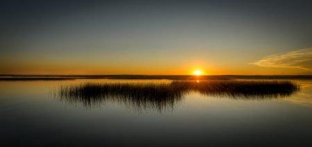 Sunset Newell Lake, Brooks, Alberta - Nikon D800