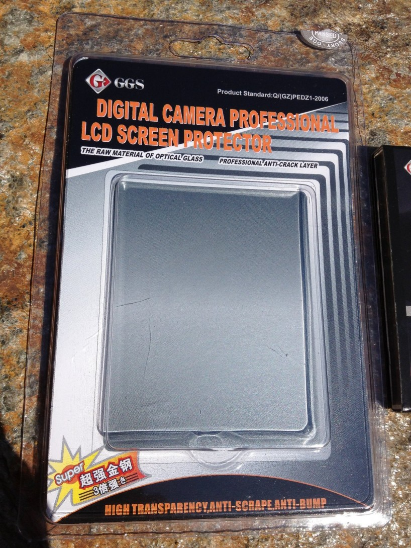GGS Nikon D800 LCD Screen Protector - first package detail