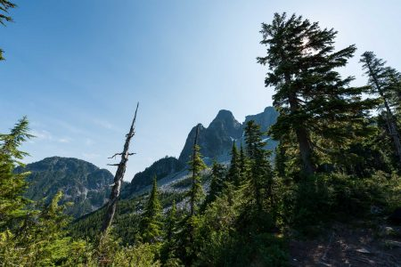 Lions Binkert Trail Hike Vancouver - 2012-08-18 : break with lions looming