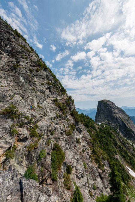 Lions Binkert Trail Hike Vancouver - 2012-08-18 : tiny people on west lion 2