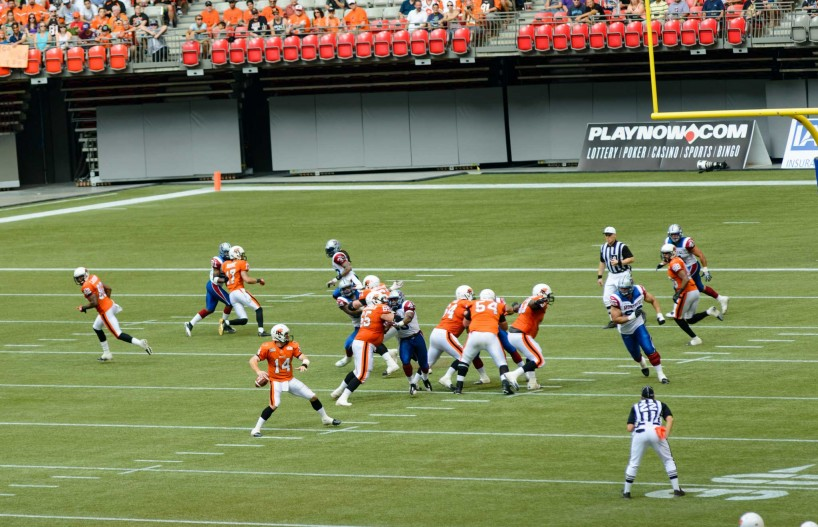 CFL Football : BC Lions vs Montreal Alouettes : Sept 8 2012 : Play