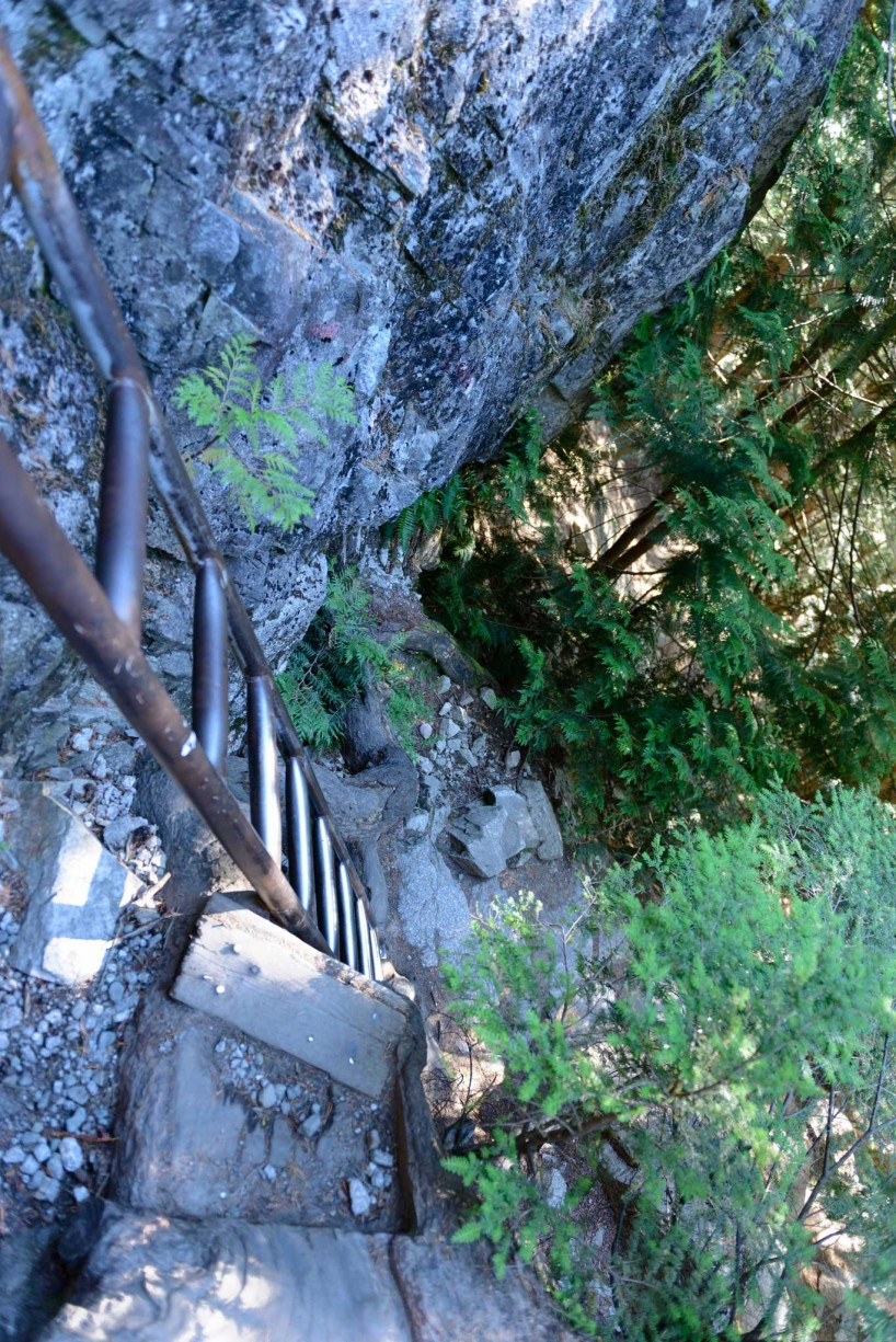 Stawamus Chief - South Peak - Squamish BC - 2012-09-13 : Ladder
