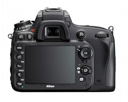 Nikon D600 FX DSLR Camera : Rear View