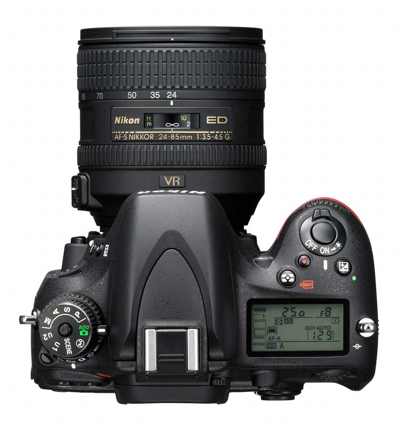 Nikon D600 FX DSLR Camera : Top View