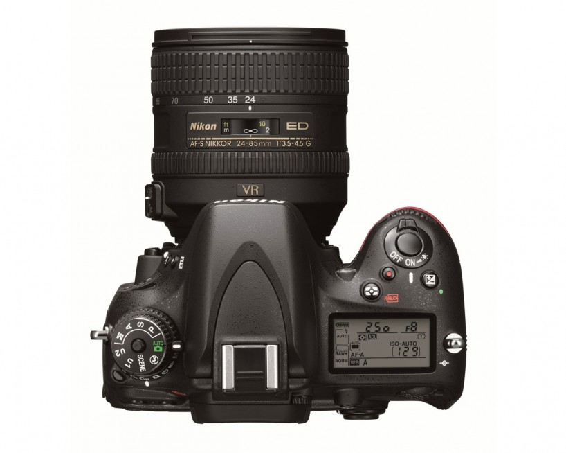 Nikon D600 Full Frame Camera : Top