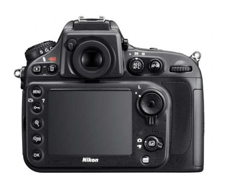 Nikon D800 FX DSLR Camera : Rear View