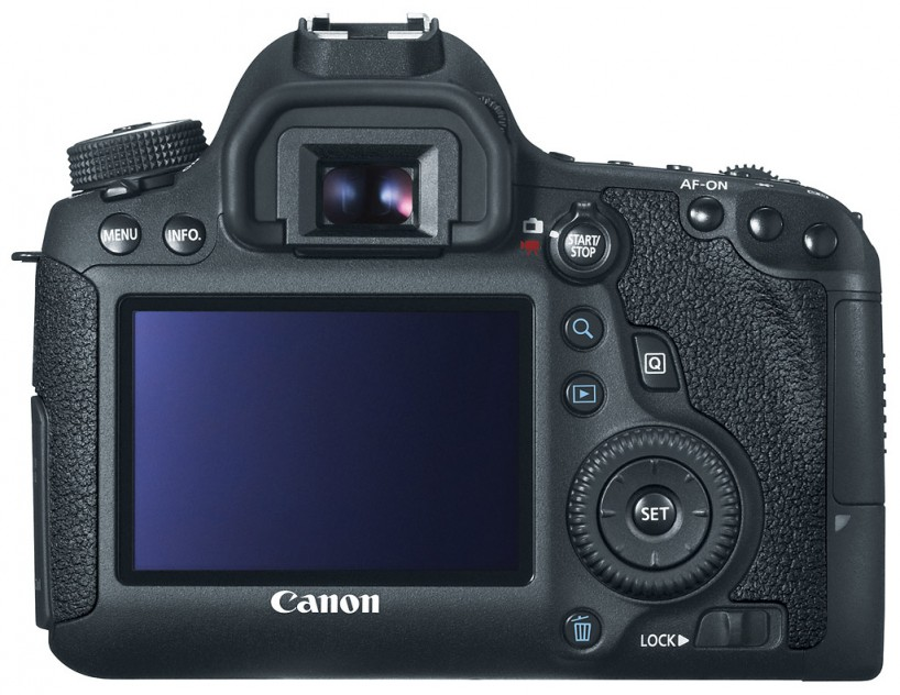 Canon 6D Full Frame Camera : Back