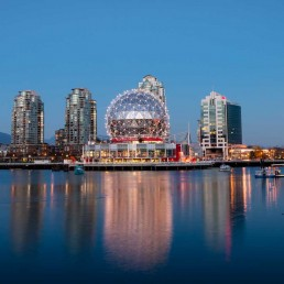 Vancouver's Olympic Village At Night 1
