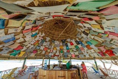 2012-12-01 : Belize Vacation : Coco Plum Island Resort : Shirts At The Bar
