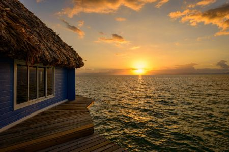 2012-12-02 : Belize Vacation : Coco Plum Island Resort : Sunset in Belize