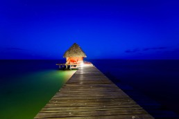 Belize 2012-12-02 : Coco Plum Island Resort : Dock at Night