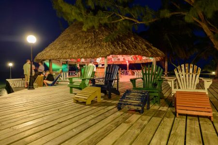 2012-12-02 : Belize Vacation : Coco Plum Island Resort : Bar at Night