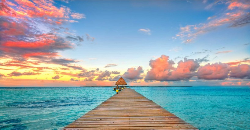 2012-12-05 : Belize Vacation : Coco Plum Island Resort : The Dock At Sunset (Final)