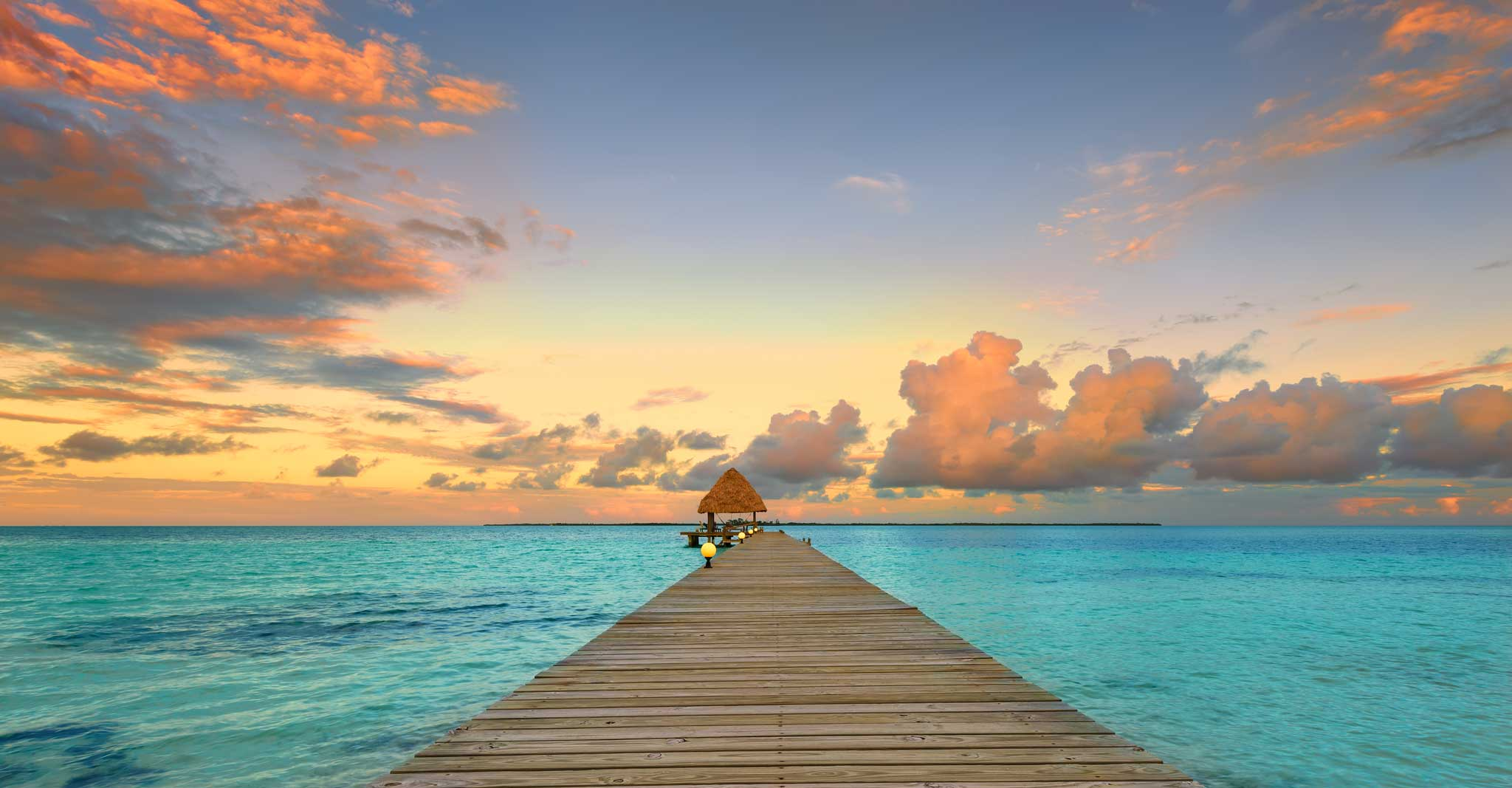 Photo Sunset In Belize Coco Plum Island Resort
