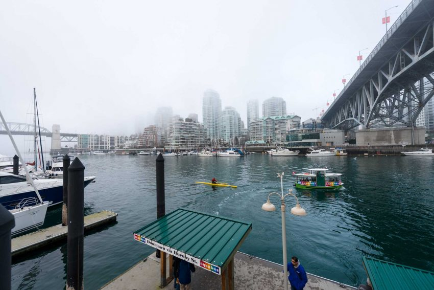 False Creek Fog - 2013-02-03 : Granville Street Bridge with Aquabus