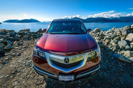 2013 Acura MDX Tech Edition - Dark Cherry Pearl - Sea To Sky Highway Front Close