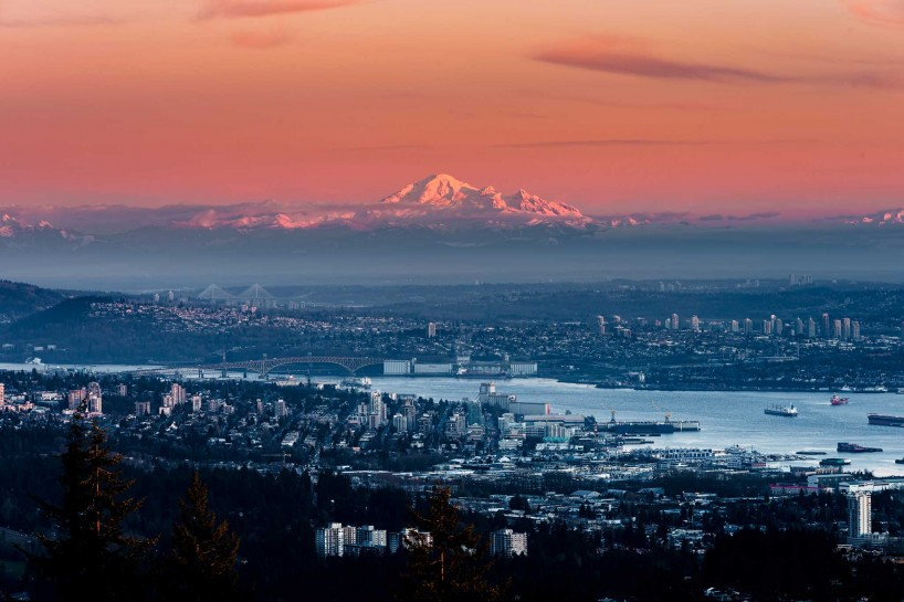 2013-02-19 : Cypress Mountain Lookout at Sunset : Resized