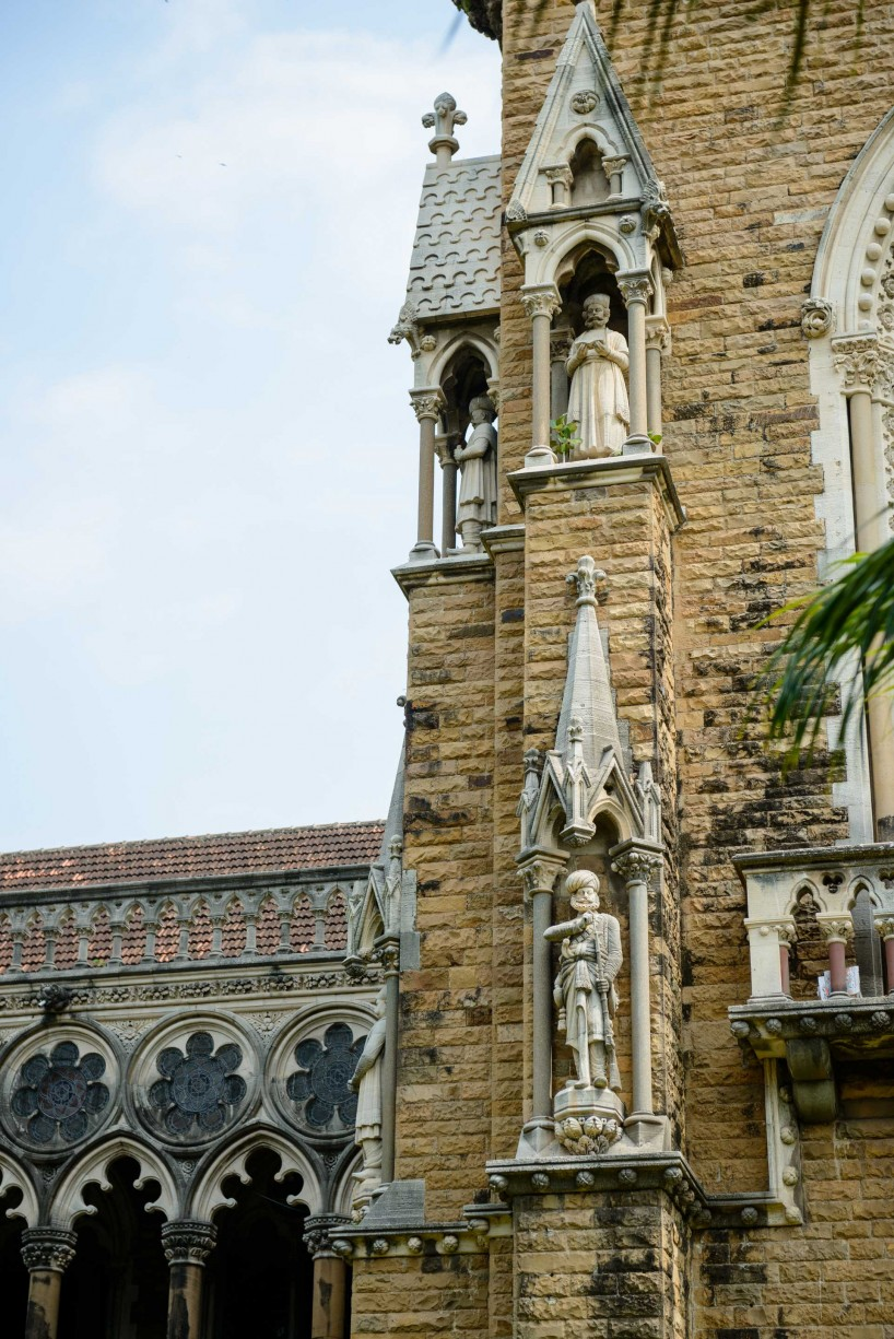 Oct 2012 : Mumbai Visit : Big Ben Clone at the Mumbai University (detail)