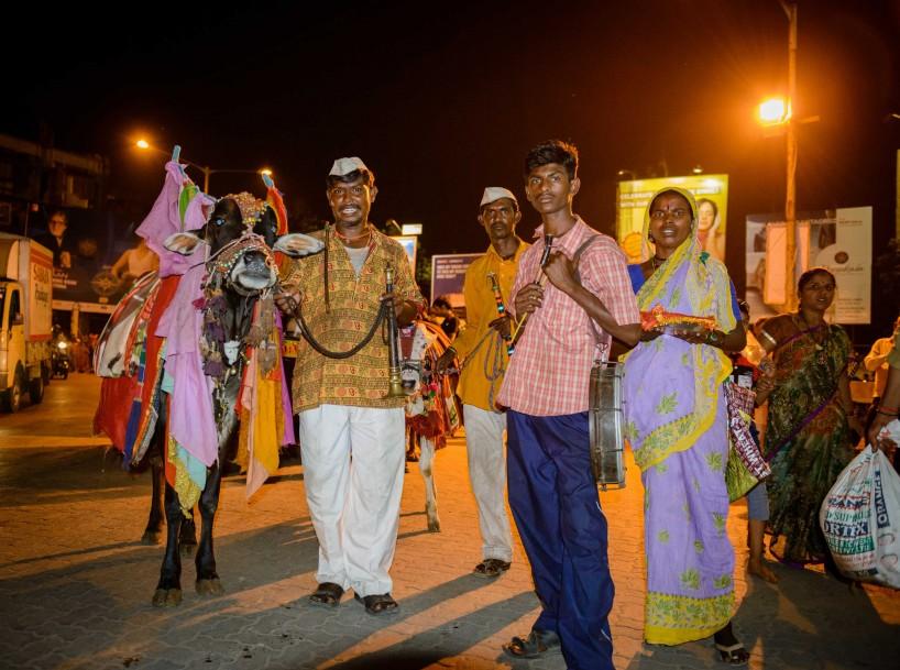 Oct 2012 : Mumbai Visit : Vijayadashami Festival sacred cow