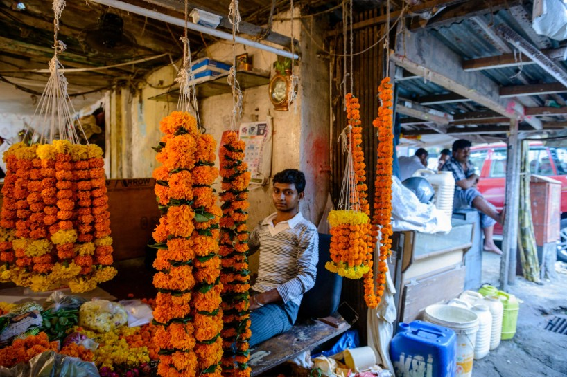 Oct 2012 : Mumbai Visit : flower market