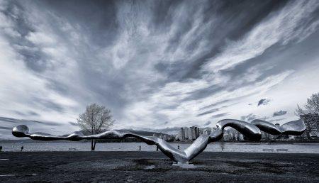 2013-02-23 Vanier Park Freezing Water Sculpture