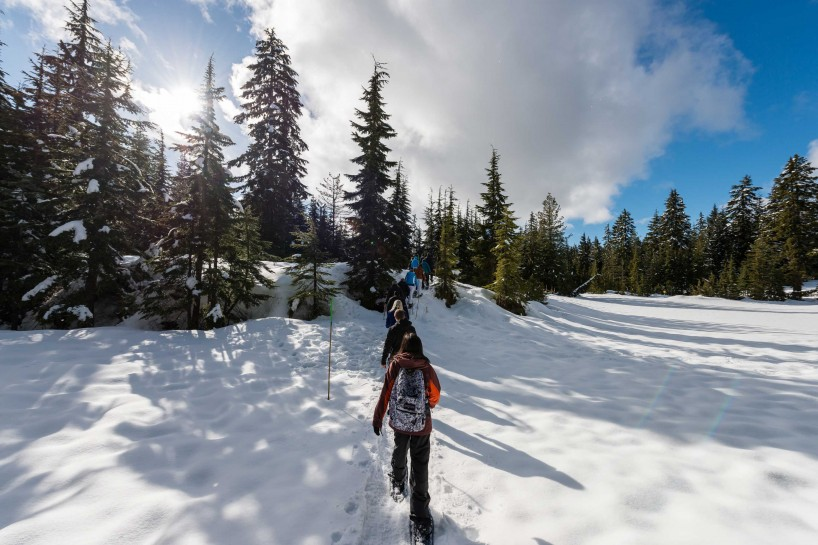 Cypress Mountain Snowshoeing 2014-03-20: Clear Skies