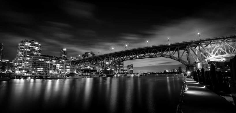 Black & White Long Exposure 2014-03-30: Granville Island, Vancouver