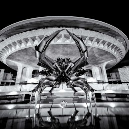 Black & White Long Exposure 2014-03-30: HR MacMillan Space Centre - Sculpture