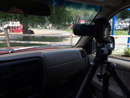 Slow Road To Squamish: in-car camera setup